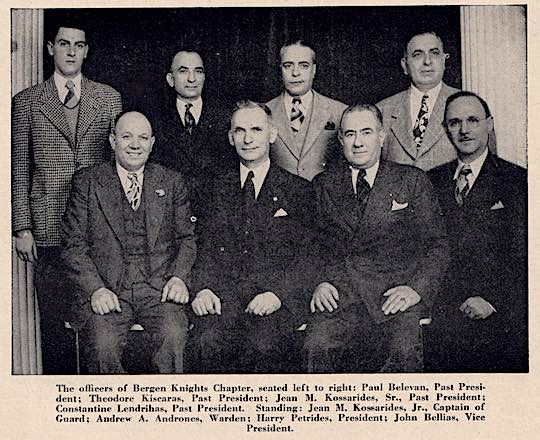 1947 - AHEPA Bergen Knights Chapter Officers