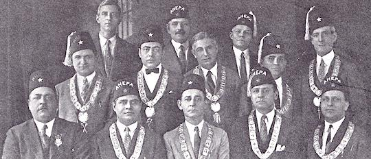 1926 - 0fficers of Worthington Chapter #30, Baltimore, Maryland Theodore S. Agnew, father of Vice President Spiro T. Agnew, is in the second row, center. In 1926, he served his chapter as Chaplain.