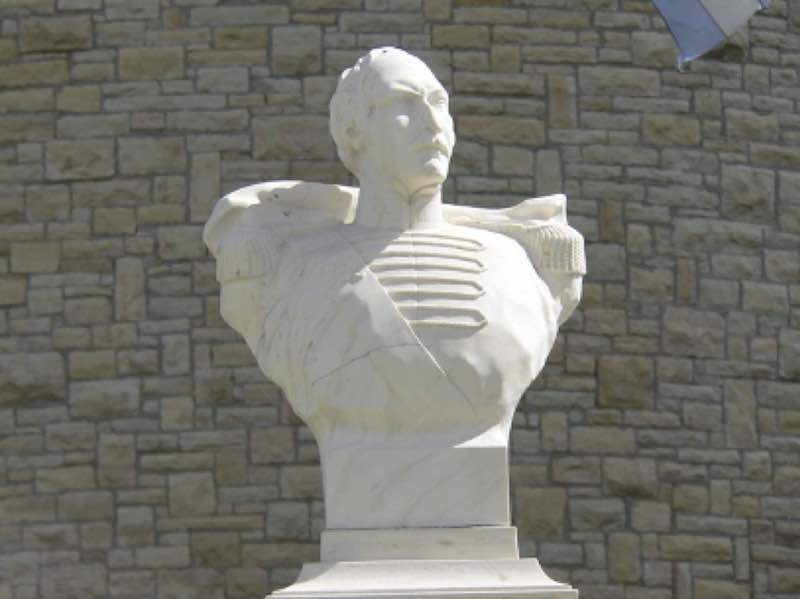 AHEPA Statue of General Demetrius Ypsilanti in Ypsilanti, Michigan