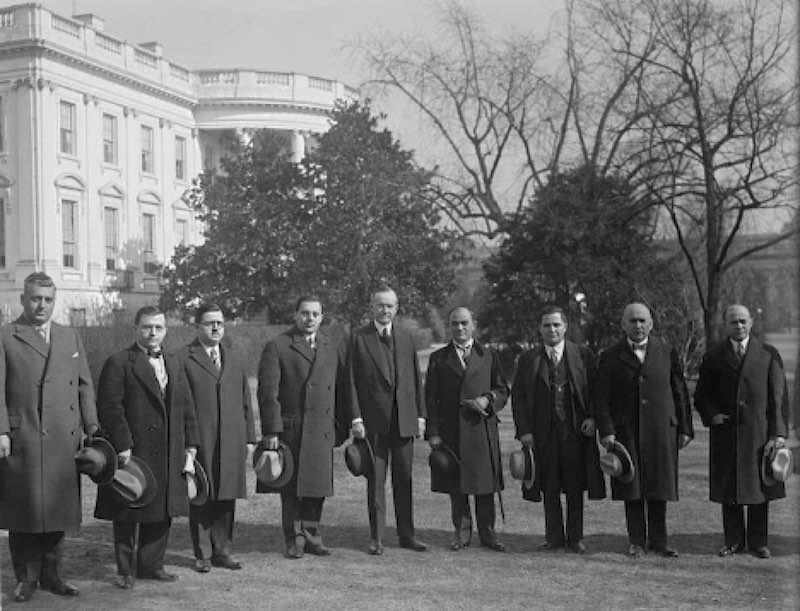 AHEPA 1929 WHITE HOUSE VISIT WITH PRESIDENT CALVIN COOLIDGE