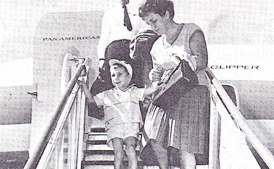 1964 - Heart patient arriving from Greece with his mother