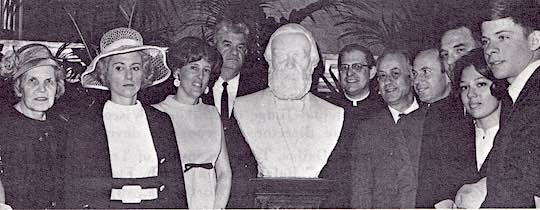 1968 - Scene in the Rotunda of the U. S. Capitol following the dedication of the marble bust of Constantino Brumidi by the Congress of the United States.