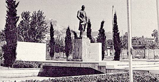 1963 - Views of the Ahepa Truman Statue erected in Athens, Greece