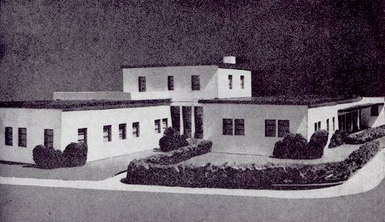 A model of an Ahepa Health Center in Greece, where seven such centers were constructed following World War II, in rural areas of the country.