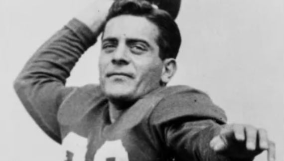 Bill Mackrides, played for the Philadelphia Eagles from 1947 to 1951 and was a member of the Eagles NFL Championship teams of 1948 and 1949
