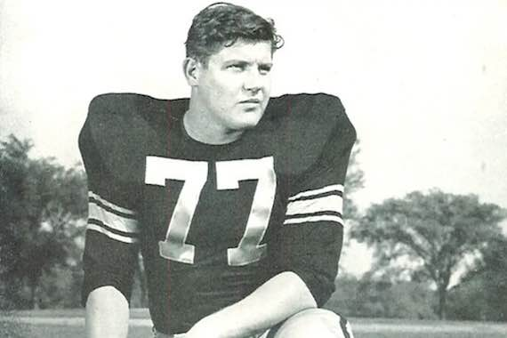 Alex Karras, recipient of the Ahepa 1957 Harry Agganis Award, and football great of the Detroit Lions in later years.