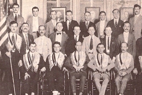 1922 - AHEPA Mother Lodge with the members of Atlanta, Georgia Chapter #1 at one of their first chapter meetings