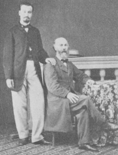 Christos Evangelides and his son Alexander C. Evangelides