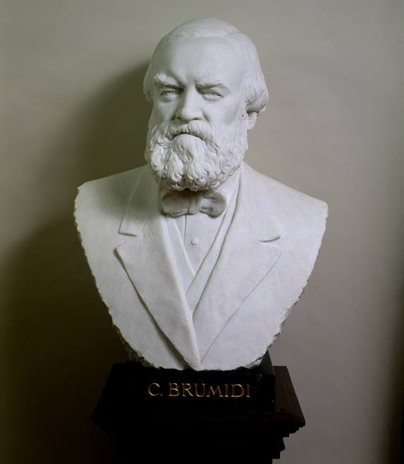 Constantino Brumidi Bust