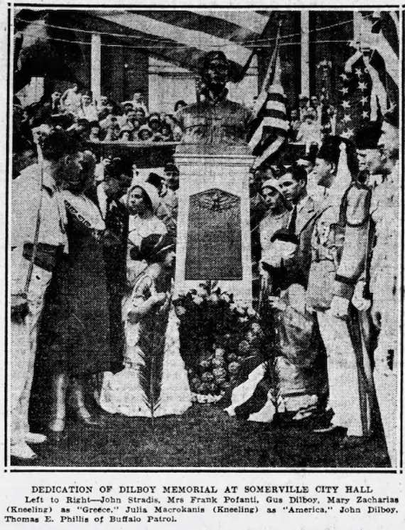 AHEPA Dedication of the George Dilboy Monument at Somerville, Massachusetts - August 26, 1930