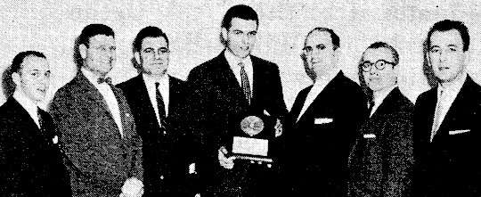 Baltimore Orioles pitcher Milt Pappas receives 1960 Ahepa Harry Agganis Award