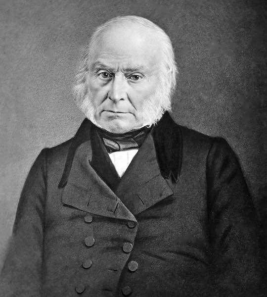 President John Quincy Adams who supported the Greek cause in his Message to Congress.