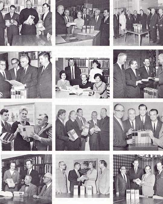 Between 1955 and 1967, the Ahepa Chapters presented more than 1,000 sets of the 7-volume Greek Classics to city, university, and high school libraries.